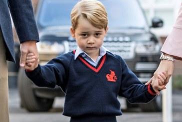 Printul George a inceput scoala (VIDEO)