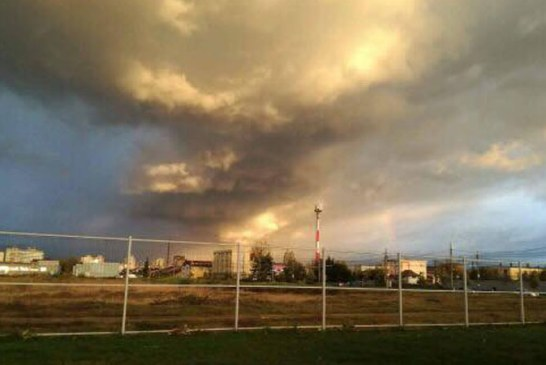 De la cititori: Nori amenintatori deasupra Baii Mari (FOTO)