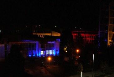 Palatul Administrativ din Baia Mare, iluminat arhitectural in forma tricolorului