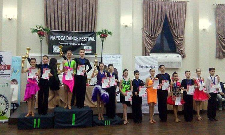 """3 medalii de aur si 3 de argint pentru Prodance 2000 la """"Napoca Dance Festival"""""""
