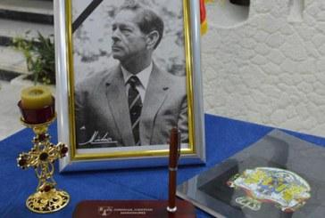 Carte de condoleante pentru Regele Mihai, amplasata la Palatul Administrativ din Baia Mare