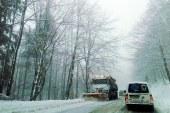 Circulatie rutiera in conditii de iarna pe drumurile nationale din judet