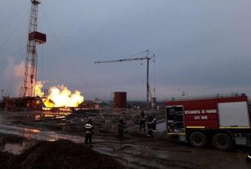 IGSU: Masuri speciale pentru eliminarea riscului de explozie la sonda de gaz din judetul Satu Mare