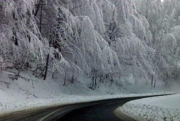 Circulatie rutiera in conditii de iarna pe drumurile din Maramures