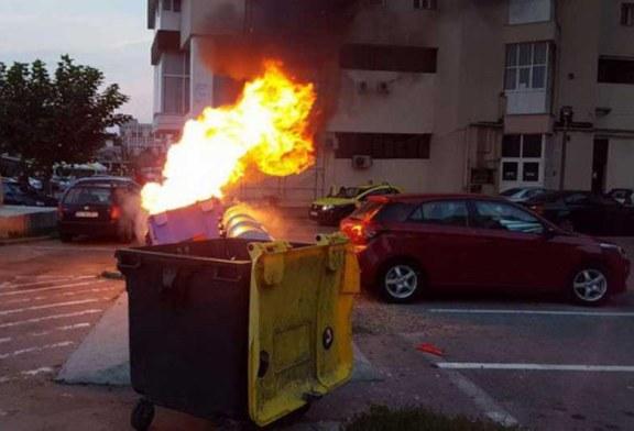 Baia Mare: Mania incendierii containerelor, o traditie de decenii. Politia Locala doarme in galosi