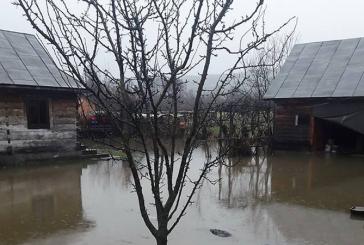 Curti si o locuinta inundata in Berbesti