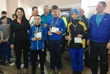 Trei titluri de Campion Nationalobtinut deC.S.S. Baia Spriela Campionatul National Scolar de schi fond