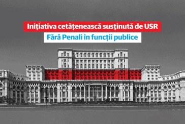 """Uniunea Salvati Romania anunta crearea Grupului de initiativa a campaniei """"Fara penali in functii publice"""""""