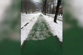 Baia Mare: Halal deszapezire! Cum arata pista de alergare din Parc, la doua saptamani de la ultima ninsoare