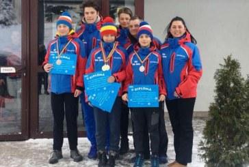 Doua medalii de aur, un argint si doua de bronz pentru CSS Baia Sprie la CN de schi alpin