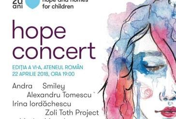 Hope Concert, la editia a VI-a. Afla cand