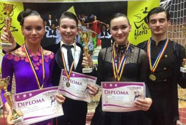 """Doua medalii, trei finale si doua semifinale pentru sportivii Galactic Dance Baia Mare la a 42-a editie a Cupei """"Floris"""""""