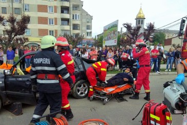 Simulare accident rutier in Sighetu Marmatiei