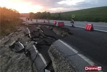Directorul CNAIR, inspectie pe drumul surpat Baia Mare-Cluj. Cand vor fi finalizate lucrarile