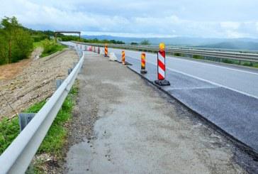 Portiunea de drum de pe DN1 C, afectata de alunecarea de teren in Pasul Mesteacan a fost refacuta