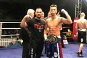Morosan cu pumn de fier! Boxerul profesionist Florin Cardos a castigat titlul continental UE la categoria super-usoara, dupa un spectaculos KO in repriza 1