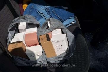 Bunuri contrafacute, ce poarta numele unor marci de renume, descoperite de politistii de frontiera la Sighetu Marmatiei
