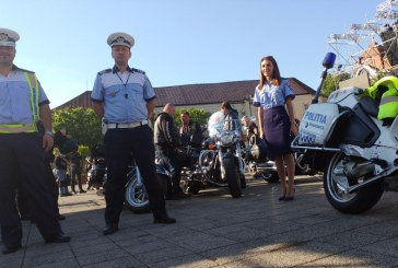 Baia Mare: Motociclisti si politisti uniti pentru promovarea respectului in trafic