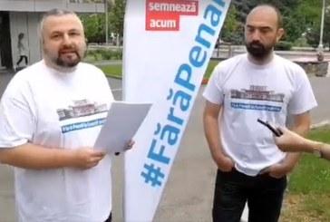 USR Maramures, conferinta de presa in fata Primariei Baia Mare