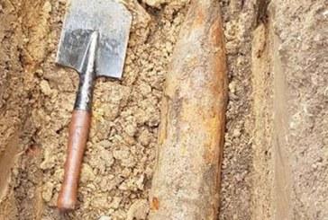 Proiectil exploziv descoperit in curtea scolii din Miresu Mare