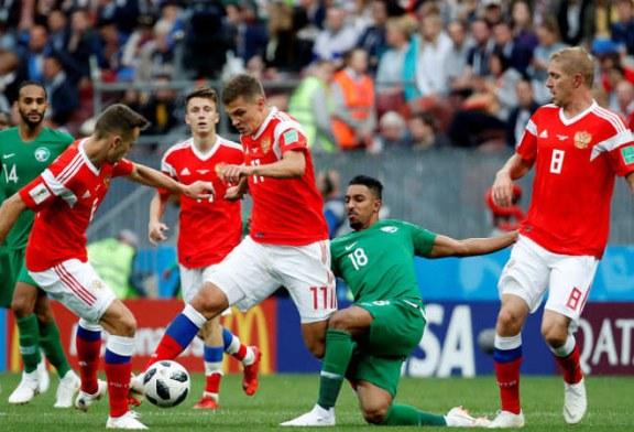 Fotbal – CM 2018: Rusia incepe Cupa Mondiala pe care o gazduieste cu o victorie clara, 5-0 cu Arabia Saudita