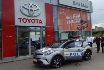 O Toyota C-HR HYBRID intra in dotarea Politiei Maramures