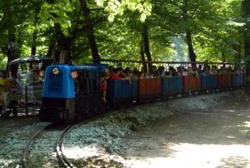 """Trenuletul copiilor este pregatit sa """"alerge"""" pe sinele din Parcul """"Regina Maria"""""""