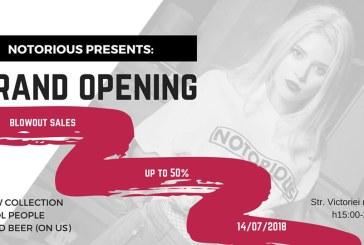 Baia Mare: Notorious isi deschide portile pentru pasionatii de streetwear