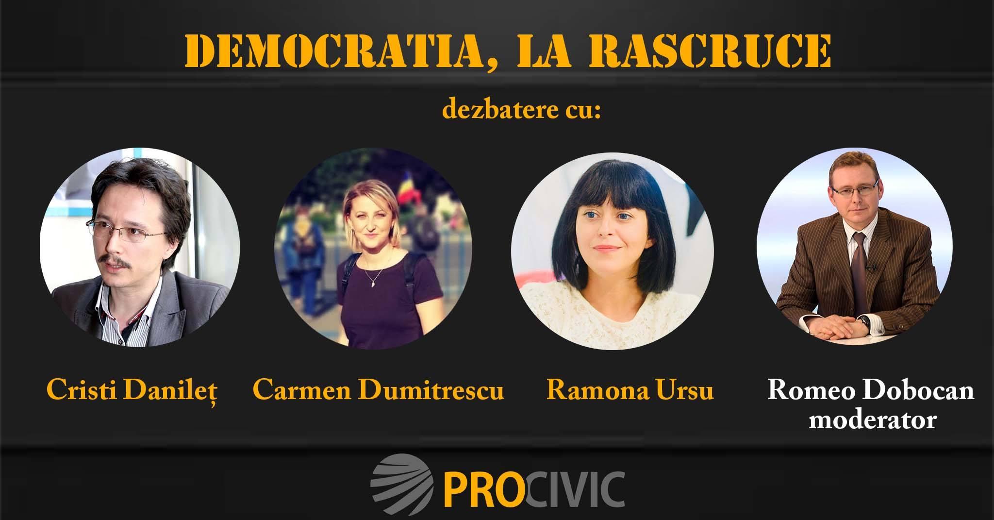 Eveniment: Democratia, la rascruce