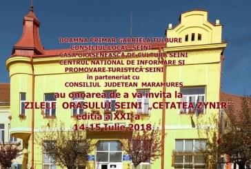 """Evenimentul Zilele Orasului Seini – """"Cetatea Zynir"""", in perioada 14-15 iulie. Vezi programul"""