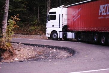Lucrari de punere in siguranta a traficului rutier pe DN18, in Pasul Gutai