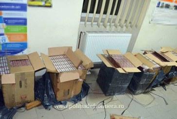 Contrabanda: Zeci de mii de pachete cu tigari confiscate in Maramures