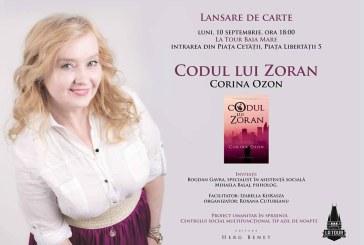 """Lansare carte La Tour: """"Codul lui Zoran"""", un roman de Corina Ozon"""