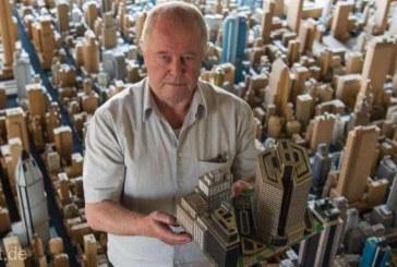 Un pensionar din Germania a construit un oras cu 4.000 de cladiri din carton timp de 65 de ani