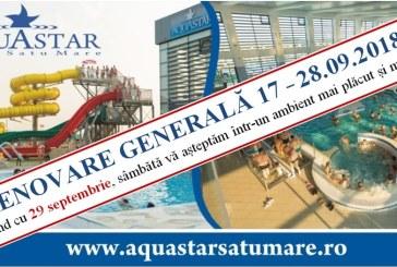 Renovare generala: AquaStar Satu Mare se inchide in perioada 17-28 septembrie