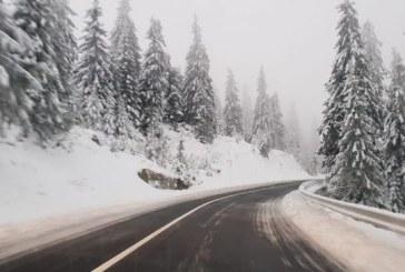 Info trafic: Zapada framantata pe DN 18, in Pasul Prislop, intre km 156 si km 180