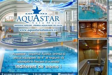 O noua sesiune de baie noctura la Aquastar Satu Mare