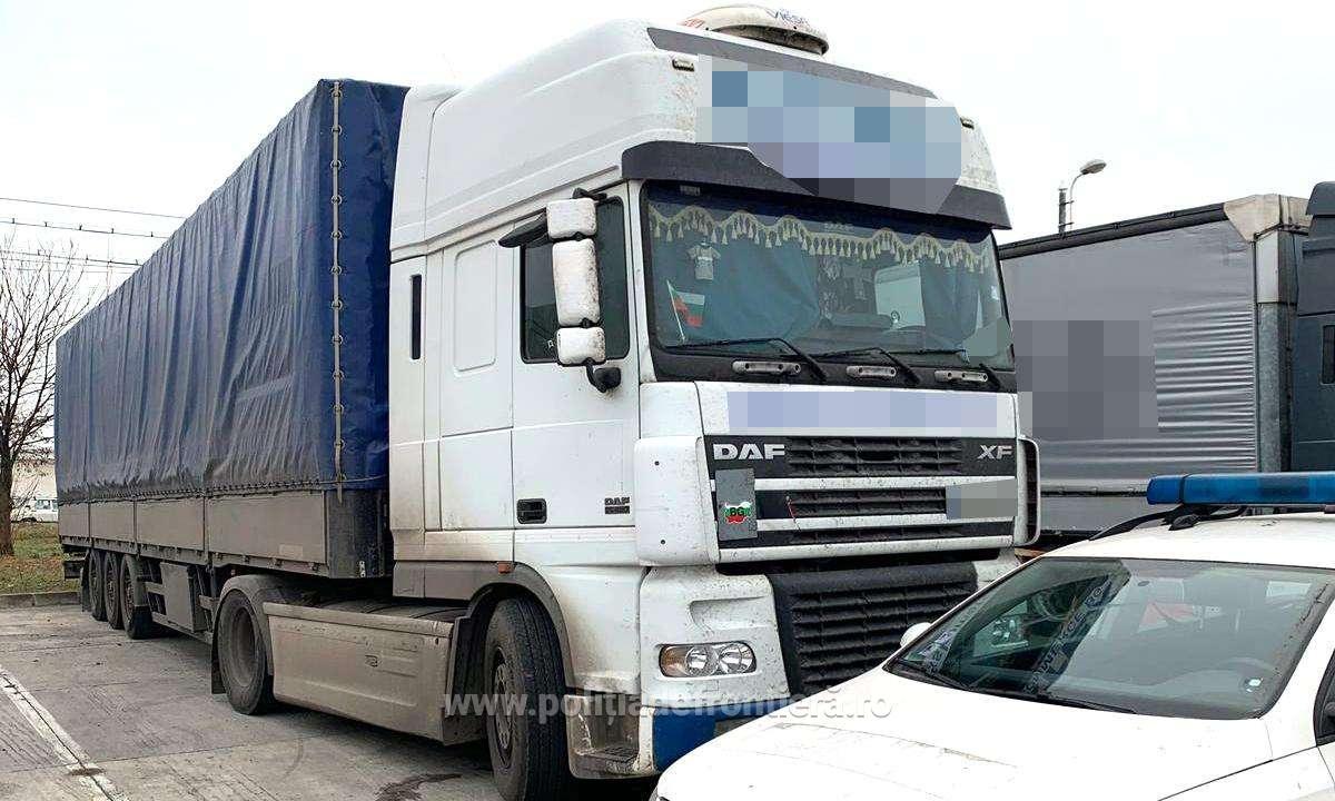 Un DAF, cautat de autoritatile italiene, a fost gasit de catre politistii de frontiera de la ITPF Sighetu Marmatiei