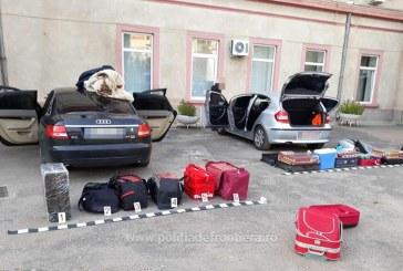 "(FOTO)Maramures: Politistii de frontiera au ""saltat"" marfa contrabandistilor de tigarete"