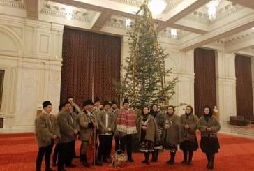 """Liviu Marian Pop: """"Am primit astazi, la Palatul Parlamentului, vizita colindatorilor din Ansamblul Ciresarii din Coruia"""""""