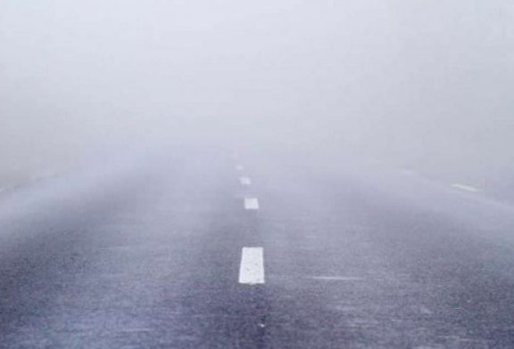 Vizibilitate redusa de ceata, sub 100 de metri, in Pasul Prislop