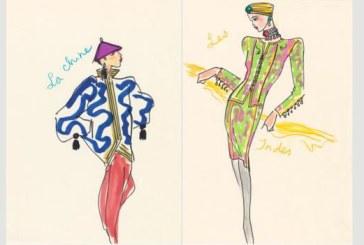 Paris: Desenele creatorului de moda Yves Saint Laurent vor fi scoase la licitatie