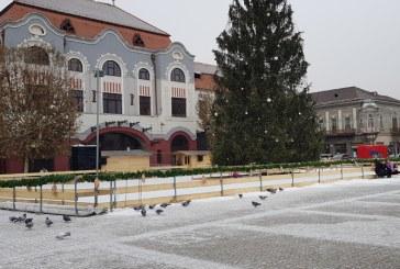 Imaginea zilei: Prima ninsoare in Baia Mare