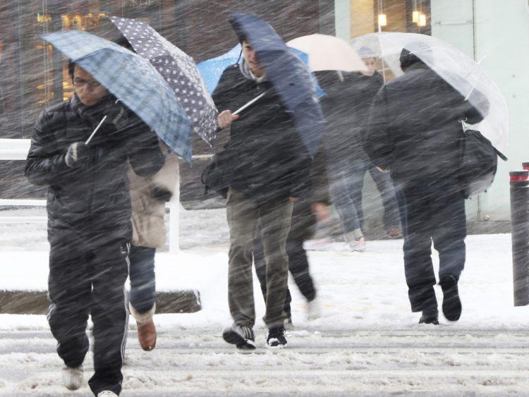 O furtuna de zapada a lovit luni nordul Japoniei, perturband traficul aerian si feroviar