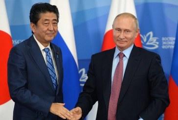 Negocieri la Kremlin intre presedintele Vladimir Putin si premierul nipon Shinzo Abe cu privire la insulele Kurile