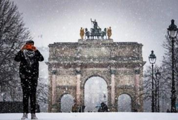 Furtuna Gabriel a adus ninsori si vant puternic in Franta