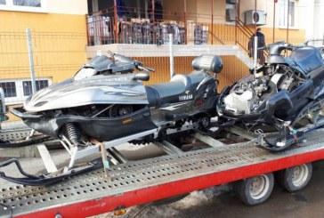 Contrabanda cu snowmobilele la Viseu de Sus