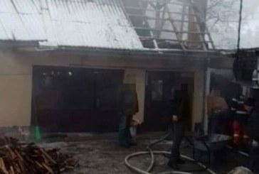 Incendiu la o casa din Chiuzbaia