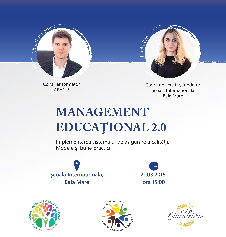 Management Educational 2.0: Curs de formare pentru directorii de scoli, secretarii sefi si responsabilii de comisii