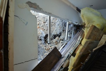 Locuinte afectate de alunecari de teren in localitatile Valea Chioarului, Baia Sprie si Ulmeni